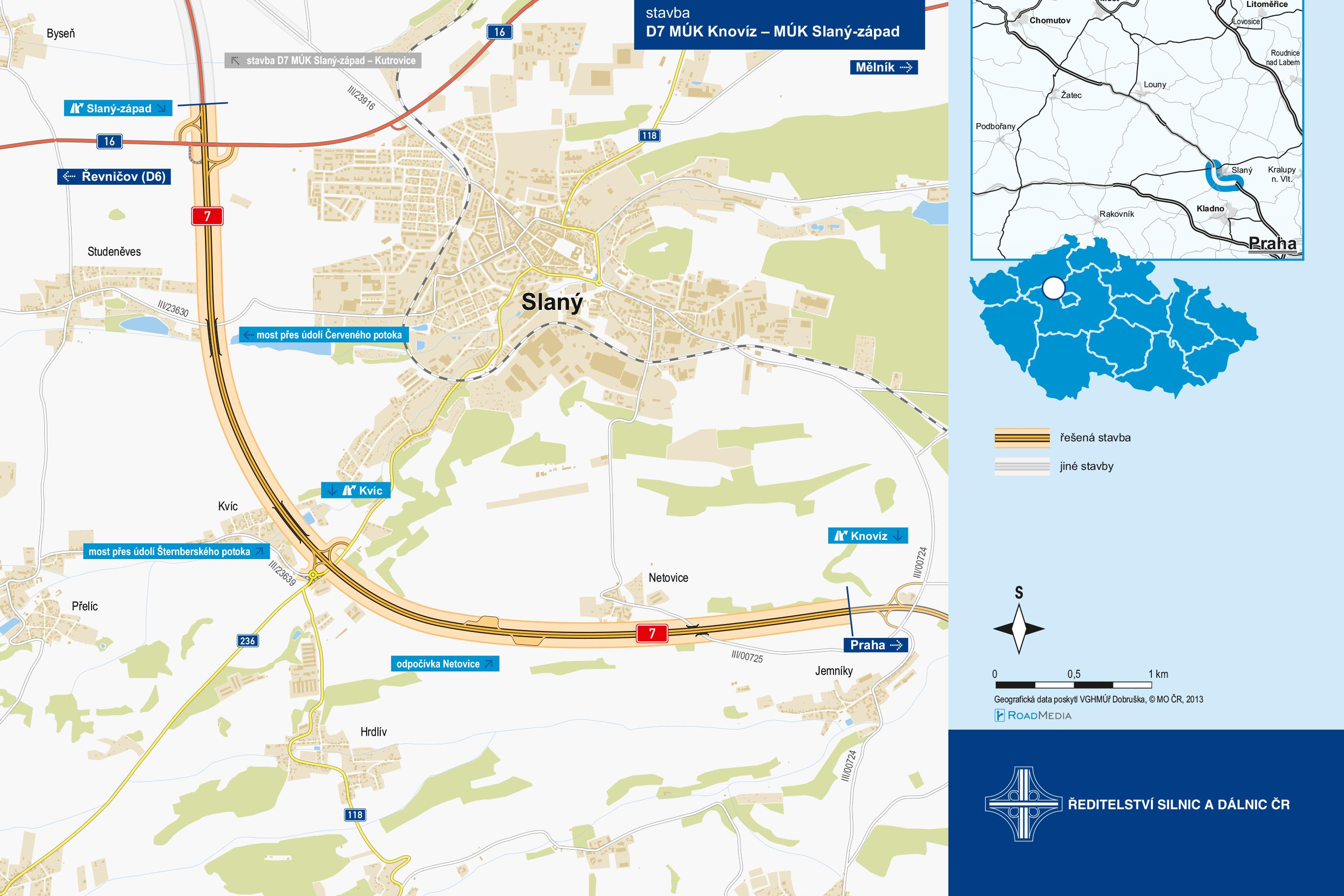 D7-příprava dálničních úseků ve Středočeském kraji