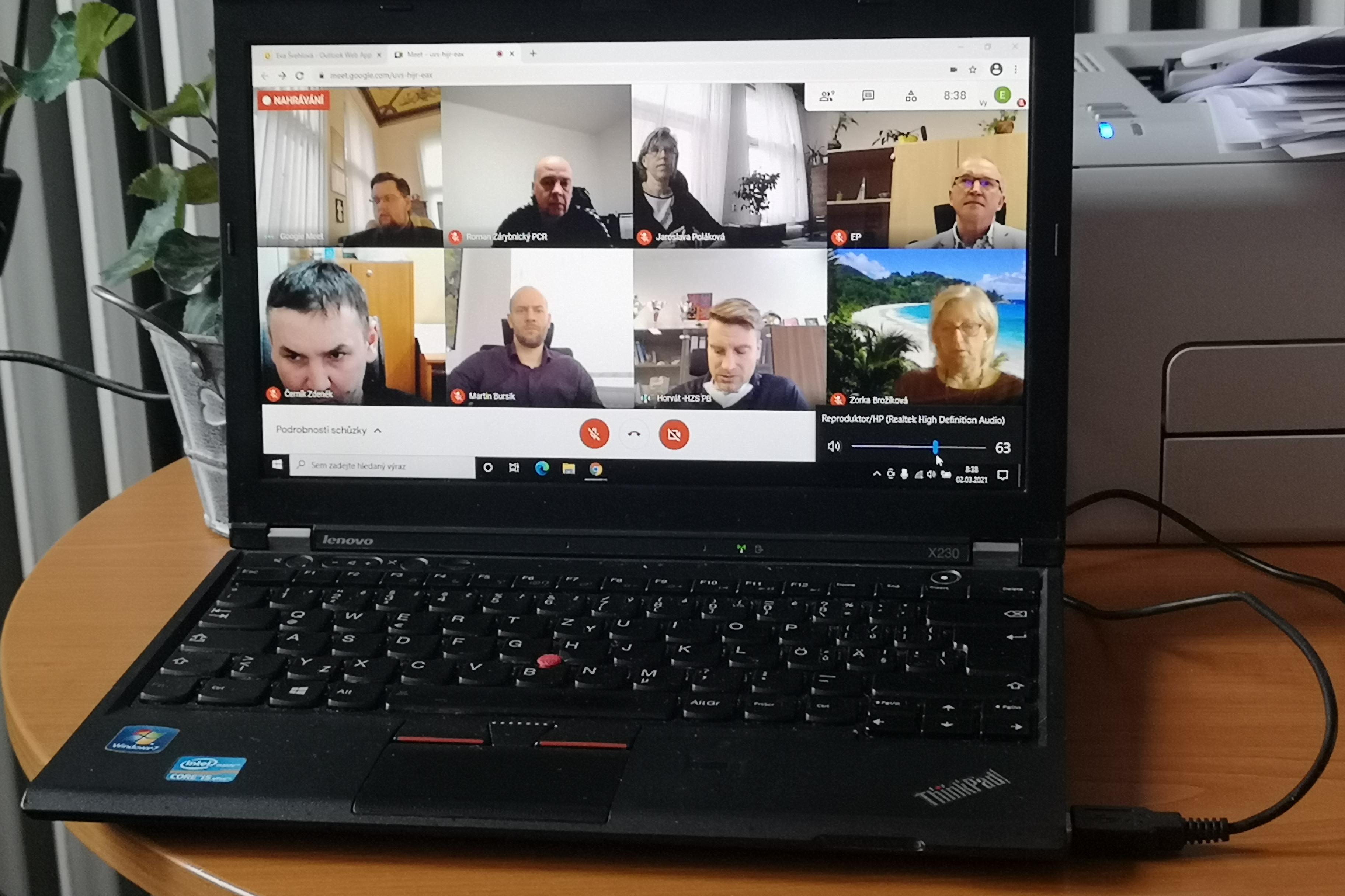Online jednání krizového štábu ORP Příbram